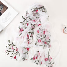 Load image into Gallery viewer, Silk Cut Flower Scarves
