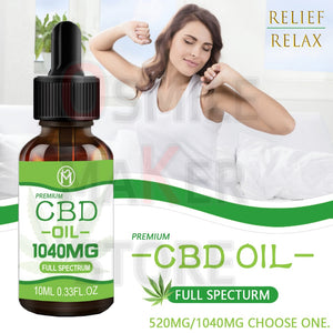 New Formula 10ML Real Hemp Full Spectrum CBD OIL Extract from Hemp flowers Drop for Relax body & mind anti-anxiety sleep better