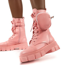 Load image into Gallery viewer, Women's Lace Up Combat Platform Boots
