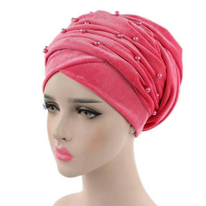 Velvet Beaded Head Wrap