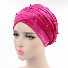 Load image into Gallery viewer, Velvet Beaded Head Wrap