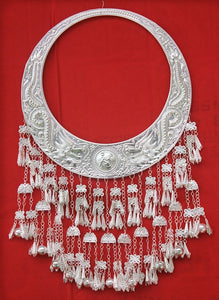 Miao Silver Necklace hmong accssories Chinese folk dance performance hmong Necklace