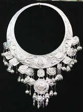 Load image into Gallery viewer, Miao Silver Necklace hmong accssories Chinese folk dance performance hmong Necklace