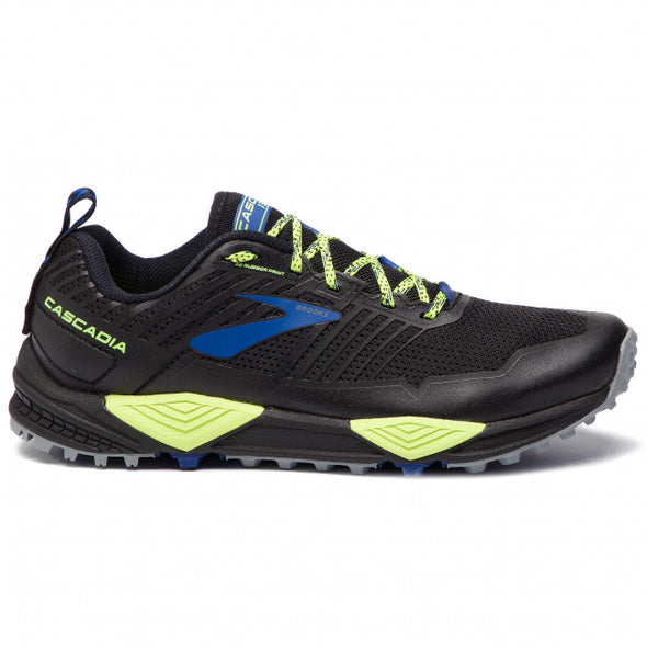 Brooks Men's Cascadia 13 Trail Running Shoes-Black/Nightlife/Blue
