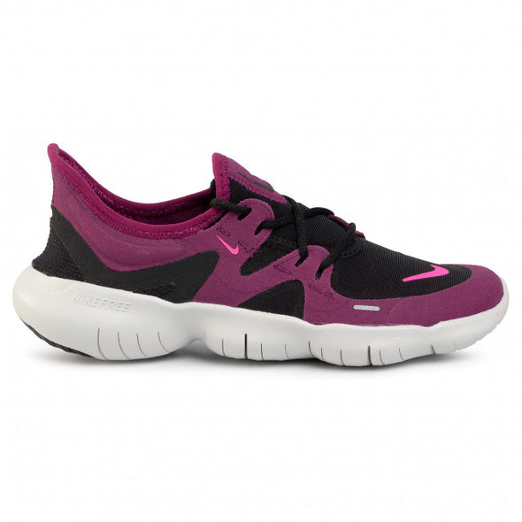 Nike Women's Free RN 5.0 Road Running Shoes-Black/Pink Blast-True Berry