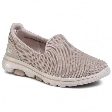 Skechers Women's Go Walk 5 Road Walking Shoes- Taupe