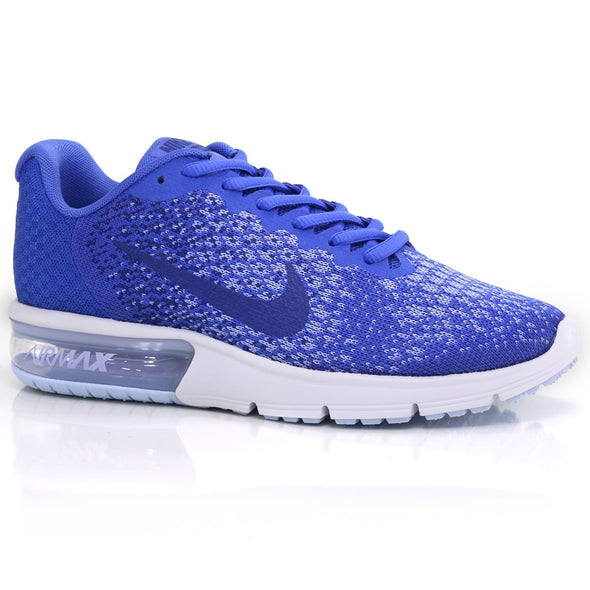 Nike Women's Air Max Sequent 2 Road Athleisure Shoes-Mega Blue/Deep Royal/Light Thistle