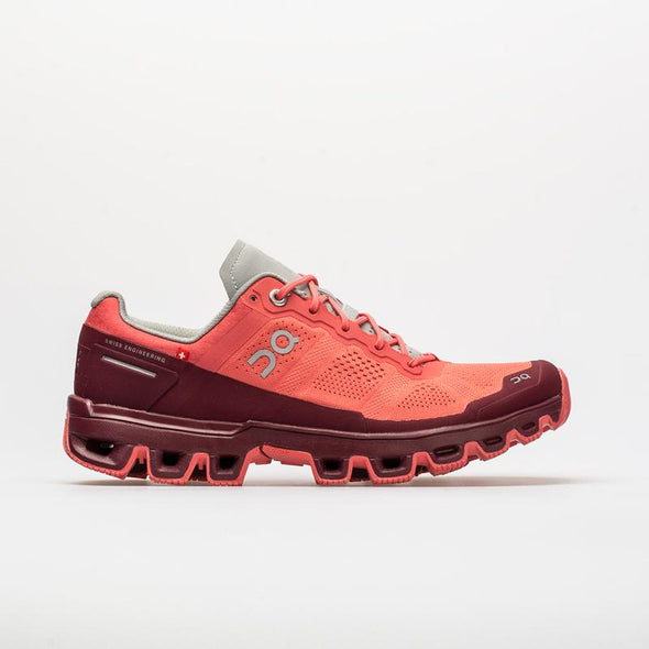 ON Women's Cloudventure Running Shoes-Coral/Mulberry