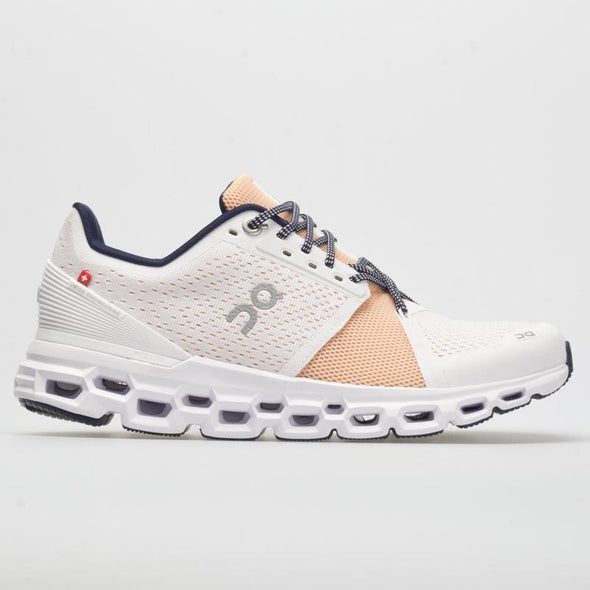 ON Women's Cloudstratus Road Running Shoes-White/Almond