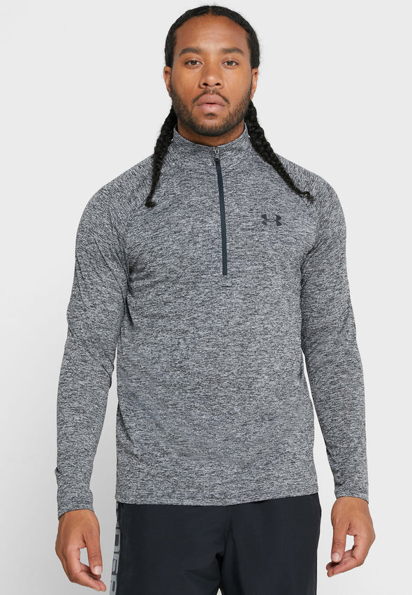 Under Armour Men's UA Tech 1/2 Zip Long Sleeve-Grey
