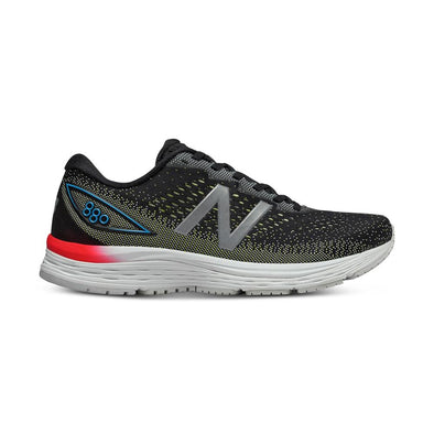 New Balance Men's 880v9 (2E) Wide Fit Road Running Shoes-Black/Yellow