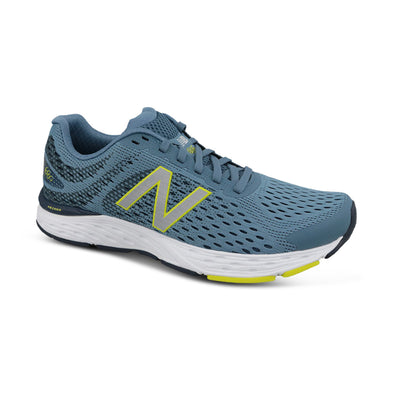 New Balance Men's 680v6 (2E) Wide Fit Road Running Shoes-Airforce Blue/Yellow