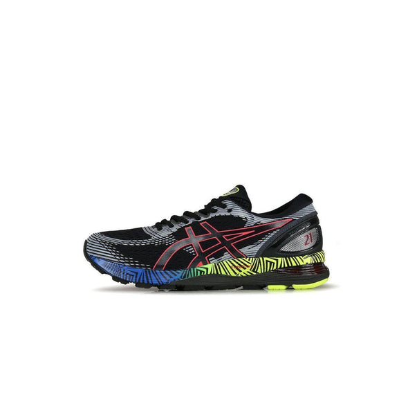 Men's Gel-Nimbus 21 Lite Show Road Running Shoes-Black/Electric Blue