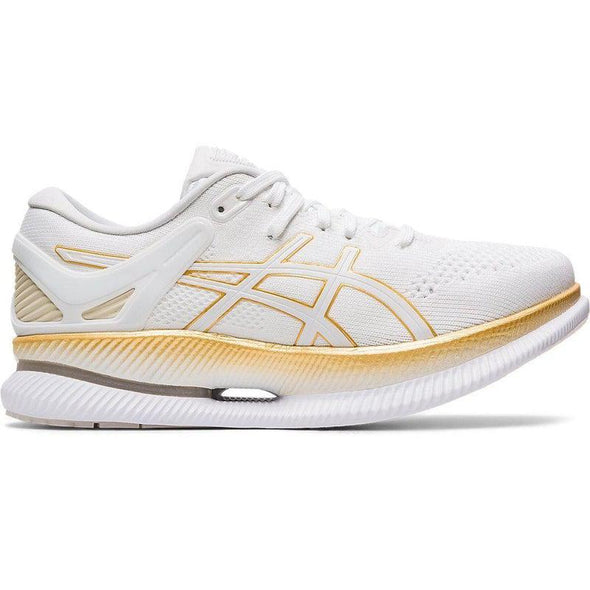 ASICS Women's MetaRide Road Running Shoes-White/Pure Gold