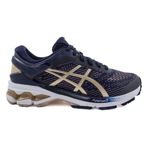 ASICS Women's Gel-Kayano 26 Road Running Shoes-Midnight/Frosted Almond