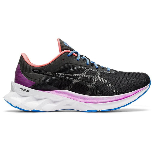ASICS Women's Novablast Road Running Shoes-Black/Black