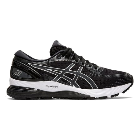 ASICS Women's Gel-Nimbus 21 Road Running Shoes-Black/Dark Grey