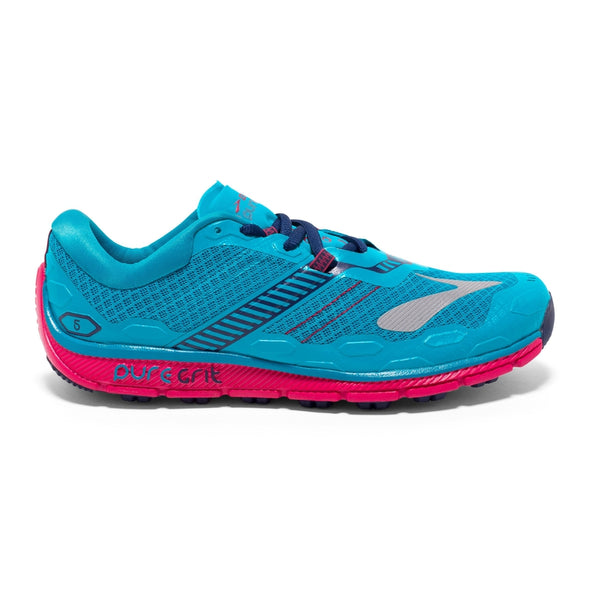 Brooks Women's Puregrit 5 Trail Running Shoes-Peacock Blue/Virtual Pink/Patriot Blue