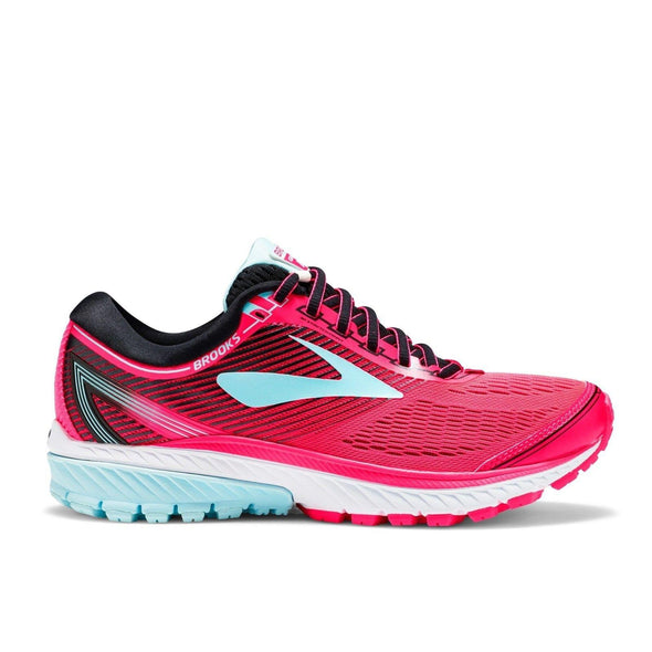 Brooks Women's Ghost 10 Road Running Shoes-Diva Pink/Black/Iceland Blue