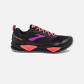 Brooks Women's Cascadia 13 Trail Running Shoes-Black/Coral/Purple