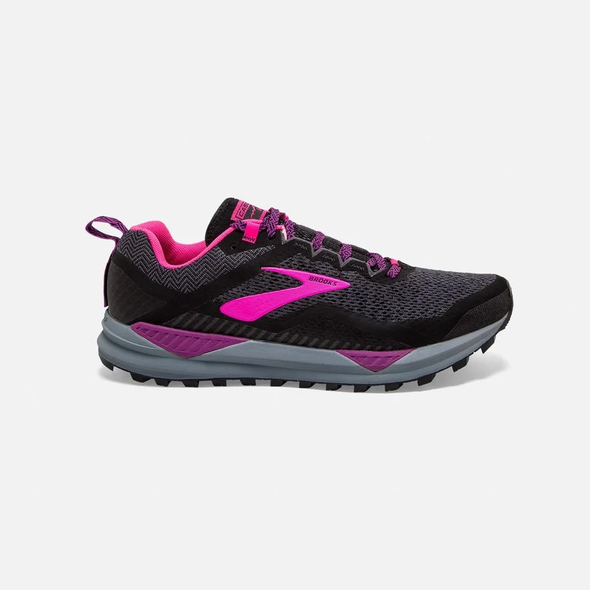 Women's Brooks Cascadia 14 -BLACK/DARK GREY/PURPLE