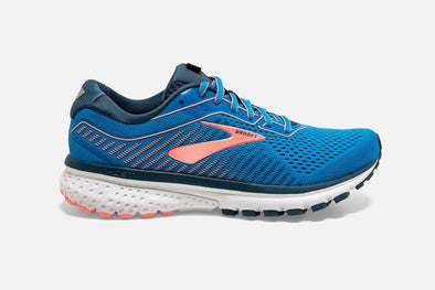 Brooks Women's Ghost 12 Road Running Shoes-Blue/Rose Gold