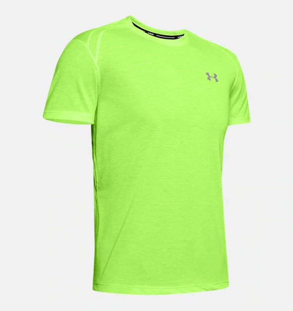 Under Armour Men's Streaker 2.0 Short Sleeve-Neon Yellow