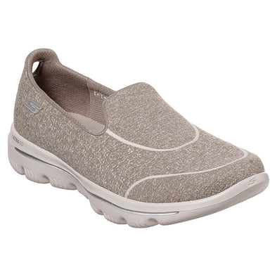 Skechers Women's Go Walk Evo Ultra-Dedicate Road Walking Shoes-Taupe