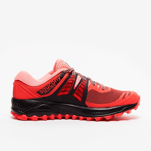 Saucony Women's Peregrine ISO Trail Running Shoes-Hibiscus/Black