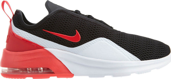 Nike Men's Air Max Motion 2 Road Athleisure Shoes-Black/Red Orbit-White Noir/Blanc