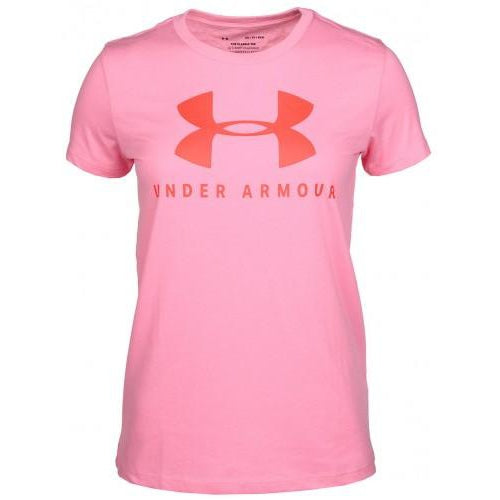Under Armour Women's Graphic Sportstyle Classic Crew-Bright Pink/Red