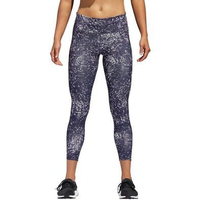 Adidas Women's How We Do Printed 7/8-Tights - trace blue/aero green