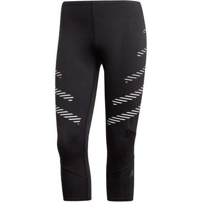 Adidas Women's How We Do Speed 3/4 Tights - Black/White