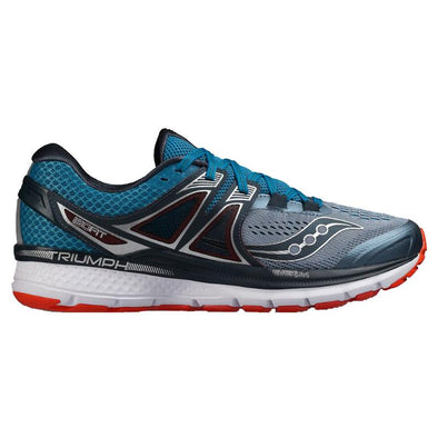 Men's Saucony Triumph ISO 3-Grey, Blue, Red