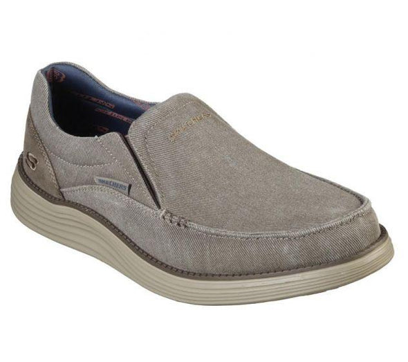 Skechers Men's Status 2.0-Mosent Road Walking Shoes-Khaki