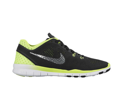Women's Nike Free 5.0 TR Fit 5 Breathe- BLACK/METALLIC SILVER-VOLT