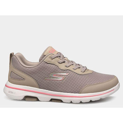 Skechers Women's Go Walk 5 Road Walking Shoes-TaupeCoral