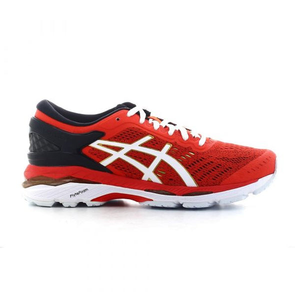 ASICS Women's Gel-Kayano 24 Road Running Shoes-Red Clay/White/Rich Gold