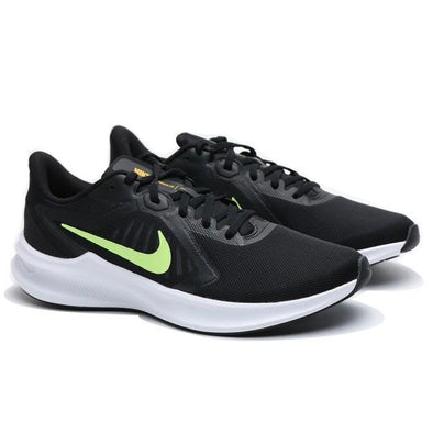 Nike Men's Downshifter 10 Road Running Shoes-Black/University Gold/White/Volt Glow