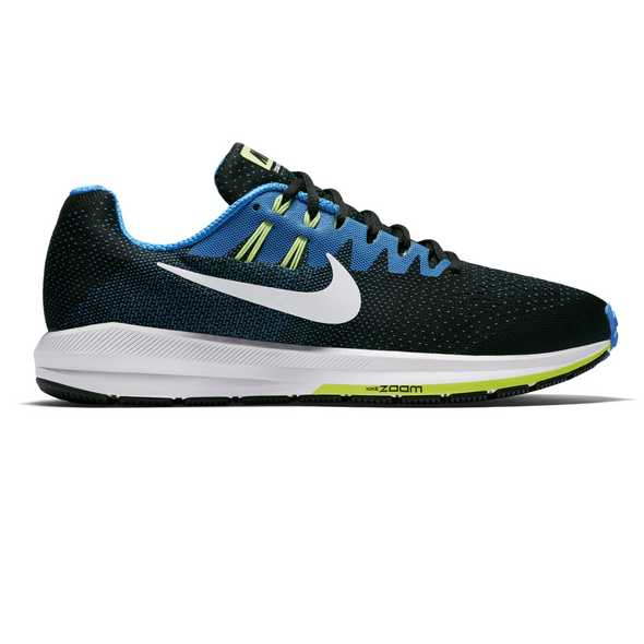 Nike Men's Zoom Structure 20 Road Running Shoes-Black/Photo Blue-Ghost Green-White