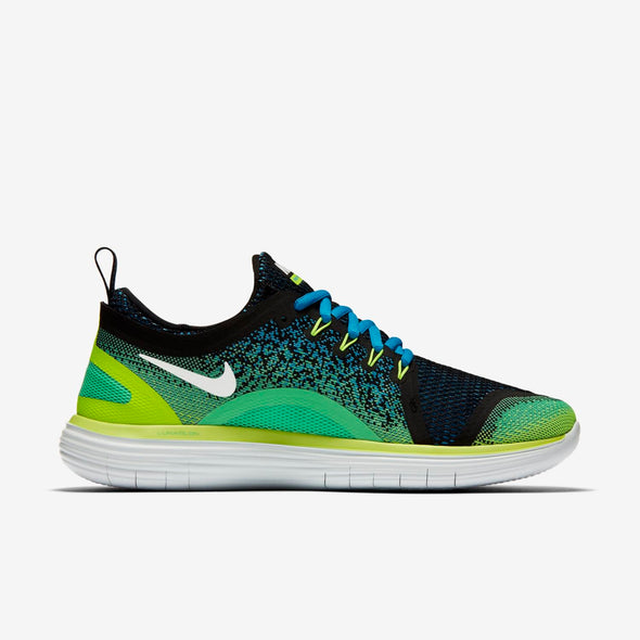 Nike Men's Free RN Distance 2 Road Running Shoes-Chlorine Blue/White/Electric Green/Black