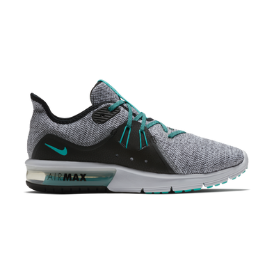 Nike Men's Air Max Sequent 3 Road Athleisure Shoes-White/Hyper Jade/Black