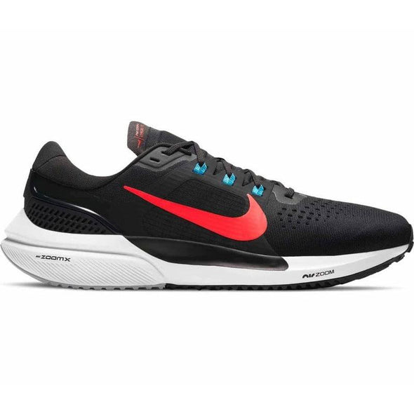 Nike Men's Zoom Vomero 15 Road Running Shoes- Off Noir/ Bright Crimson-LT Blue Fury
