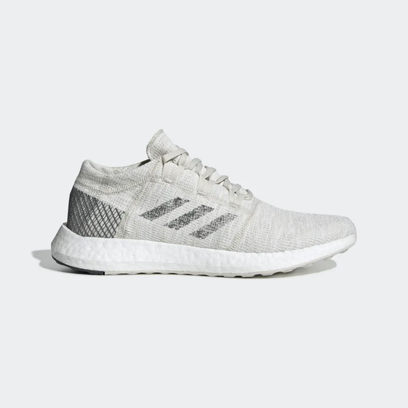 Adidas Men's PureBoost Go Road Running Shoes-Non Dyed/Grey/Raw White