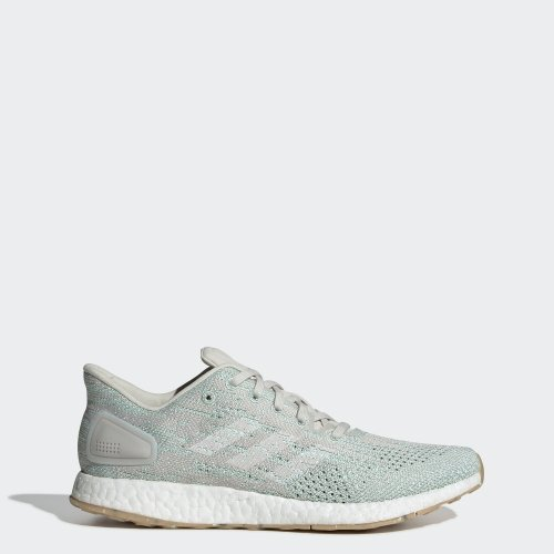 Adidas Women's PureBoost DPR Road Running Shoes-Raw White/Cloud White/Clear Mint
