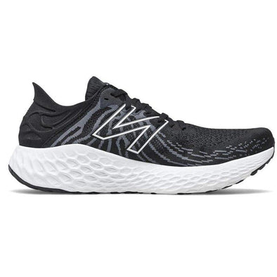 New Balance Men's 1080v11 (D) Wide Fit Road Running Shoes- Black White