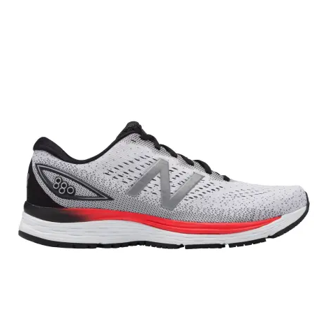 New Balance Men's 880v9 (2E) Wide Fit Road Running Shoes-White/Red