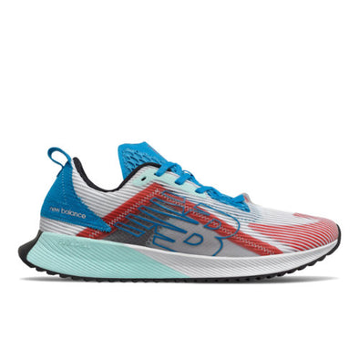 New Balance Men's Fuel Cell Rebel Road Running Shoes-Echo Lucent-White/Vision Blue