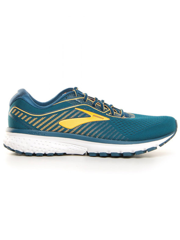 Men's Brooks Ghost 12-Cyan Blue/Orange