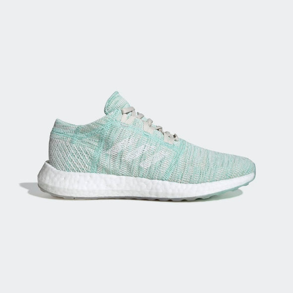 Adidas Women's PureBoost Go Road Running Shoes-Clear Mint/Cloud White/Raw White